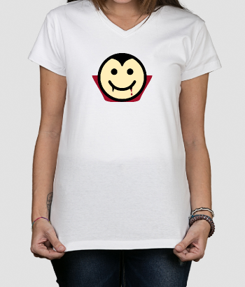Camiseta divertida Smiley dracula