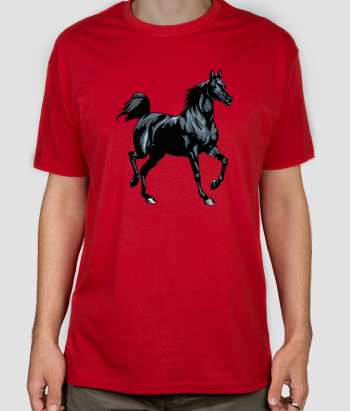 T-shirt animali equino nero