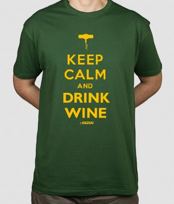 Koszulka Keep Calm and drink wine