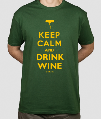 Camiseta Keep calm and drink wine