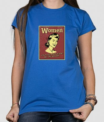 T-shirt retro Women all the brains