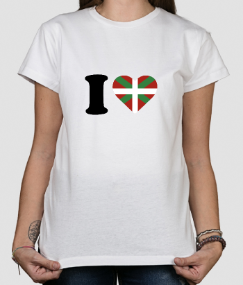 Camiseta con mensaje Love Euskadi Add new