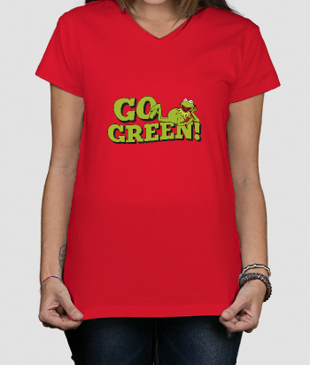 Camiseta divertida Go green