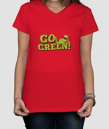 T-shirt Sesamstraat Kermit Go Green