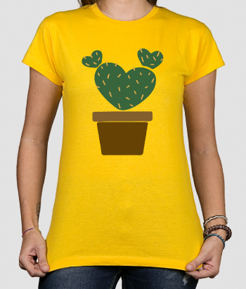 T-shirt cactus in potje