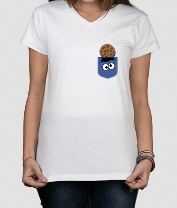 T-shirt zak cookie monster koekje