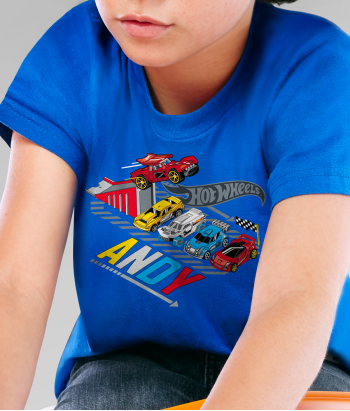 Camiseta pista Hot Wheels personalizable