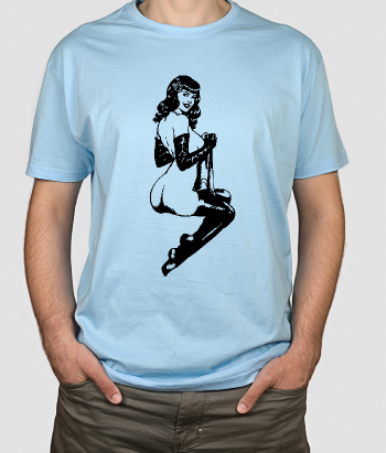 T-shirt pinup model