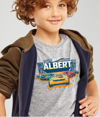 T-shirt personalizável Hot Wheels