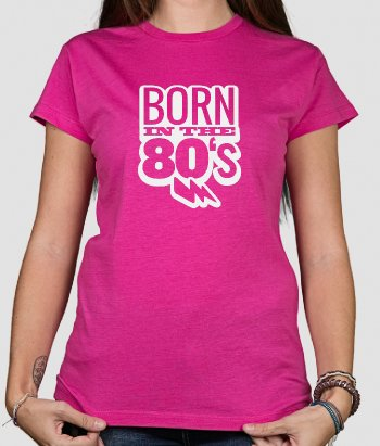T shirt originale Born in the '80