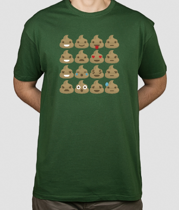 T-shirt emoticons escrementi