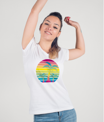 Colourful Palm Trees T-Shirt