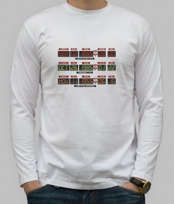 T-shirt film Back to the Future