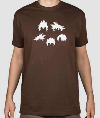 T-shirt geek capelli Dragon Ball