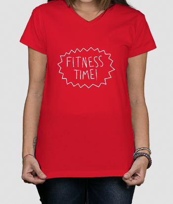 T-shirt con scritta Fitness Time