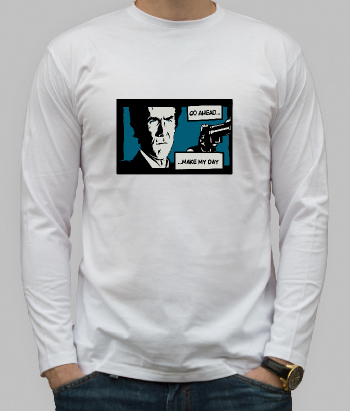 T-shirt film Dirty Harry Make my day