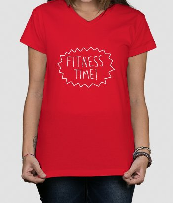 T-shirt texte Fitness Time