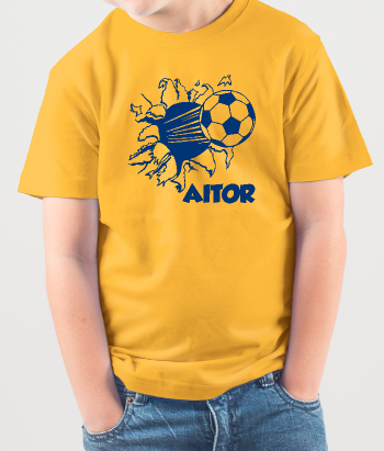 Personalisiertes T-Shirt Fußball Name