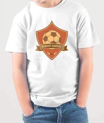 T-shirt enfants personnalisable champion football