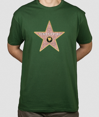 Personalisiertes T-Shirt Hollywood Stern
