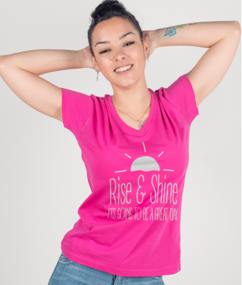 Rise and Shine Slogan T-Shirt