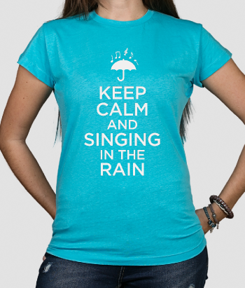 T-shirt tekst Keep Calm singing