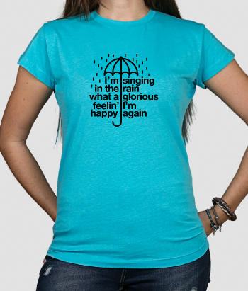 Camiseta cine Letra singing in the rain