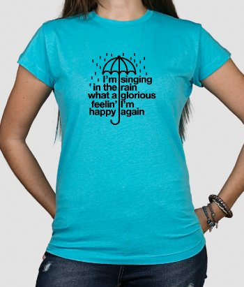 T shirt cinema Testo singing in the rain