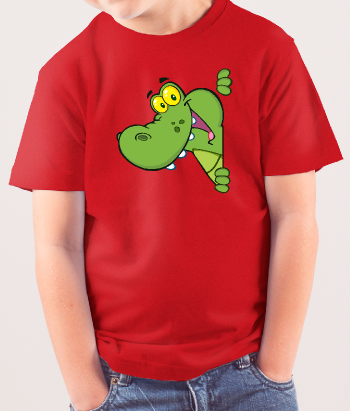 Camiseta infantil cocodrilo color
