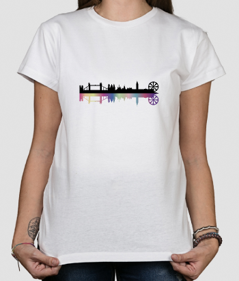 T shirt originale Londra ombre colorate