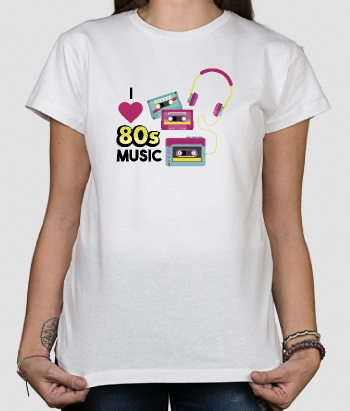 T-shirt Love 80s music