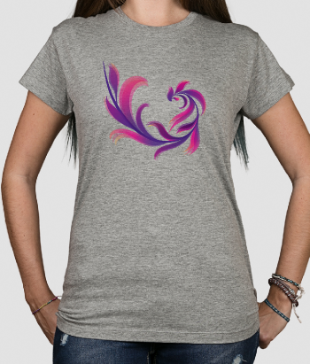T-shirt abstracte bloem