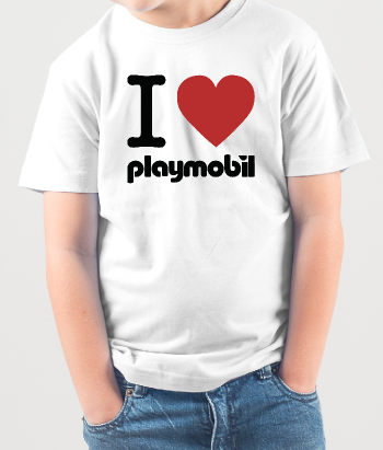 T-shirt love Playmobil