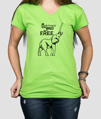 T-shirt dieren Wild and Free