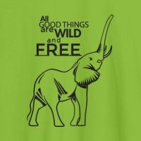 Camiseta animales Wild and free