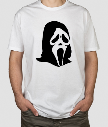 Camiseta cine máscara Scream