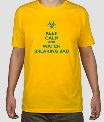 Camiseta friki Keep Calm Breaking Bad