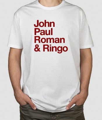 T-shirt personalizada nomes The Beatles