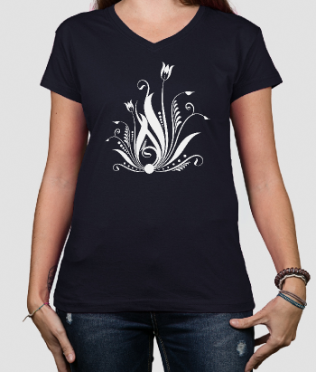 T-Shirt abstrakte Tulpen