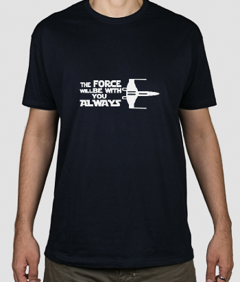 T-shirt film The Force will be with you