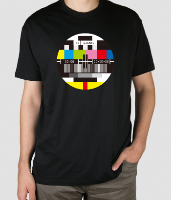 T-shirt retro TV sem sinal