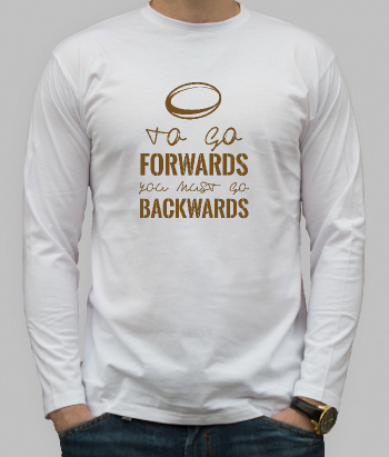 T-shirt sport rugby Forwards is Backwards