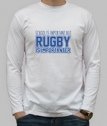 Camiseta divertida Rugby is importanter