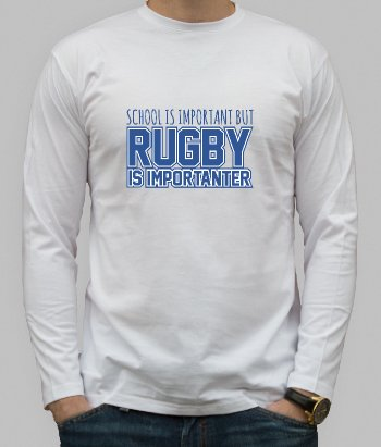 School is Important Rugby Shirt