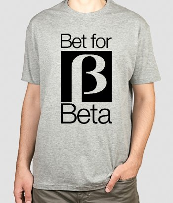 T-shirt Retro Bet for Beta