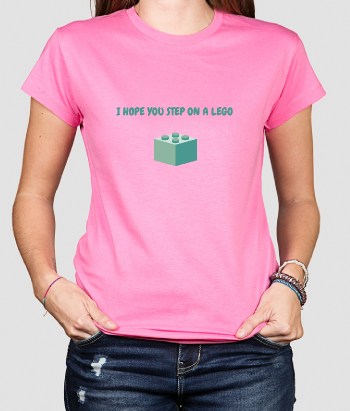 Camiseta divertida Step on a Lego
