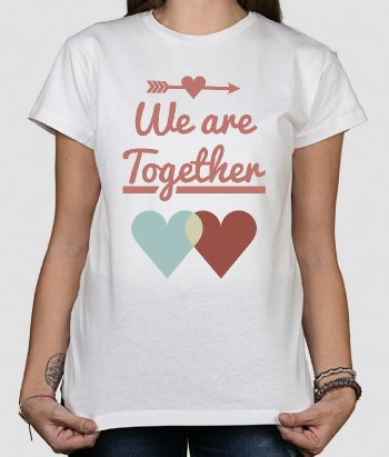 Camiseta para parejas We are together