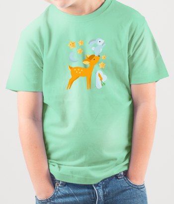 Deer and Bunny Children's T-Shirt