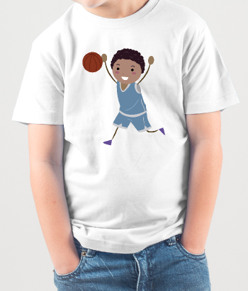 Camiseta infantil basketball