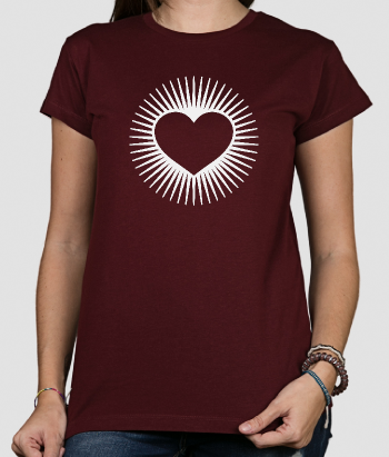 Camiseta original corazón luminescente